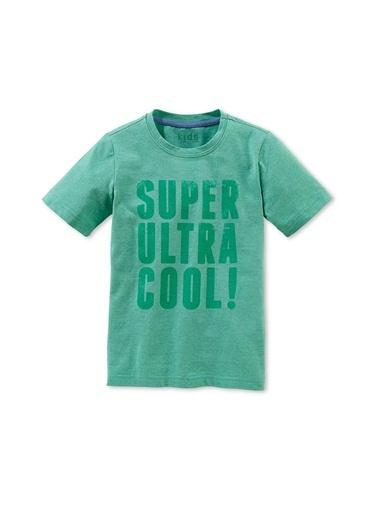Tişört, Baskılı Yeşil-Tchibo